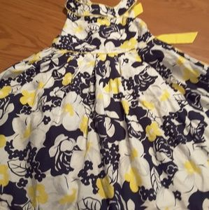 Savannah black yellow floral dress sleevelesize 6x